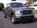 2004 Dark Shadow Grey Metallic Ford F250 Super Duty XLT SuperCab 4x4  photo #3