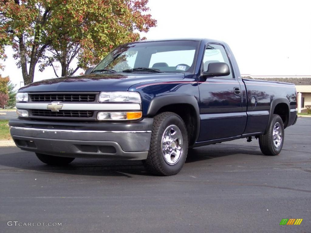 indigo blue metallic 2000 chevrolet silverado 1500 regular cab. Cars Review. Best American Auto & Cars Review