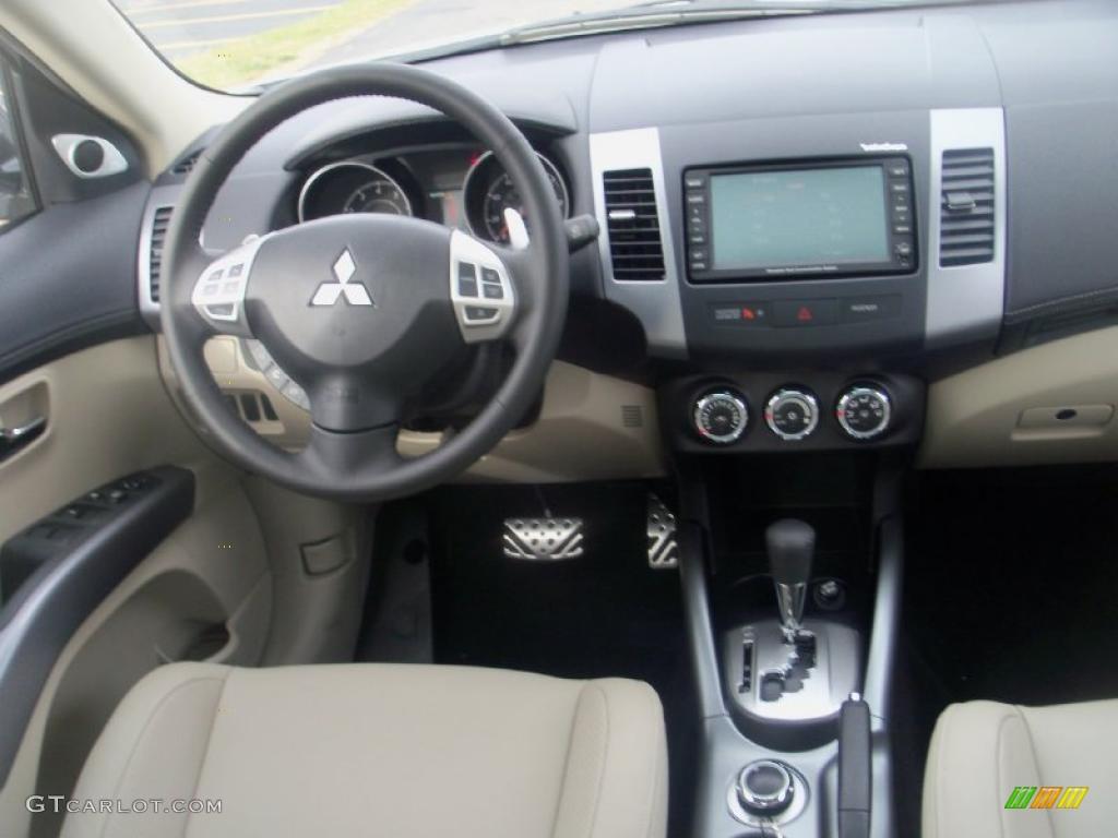 2011 Mitsubishi Outlander Gt Awd Beige Dashboard Photo 39047172 Gtcarlot Com