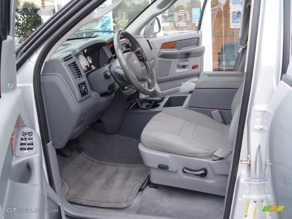 Medium Slate Gray Interior 2006 Dodge Ram 1500 Slt Quad Cab 4x4 Photo 39051496