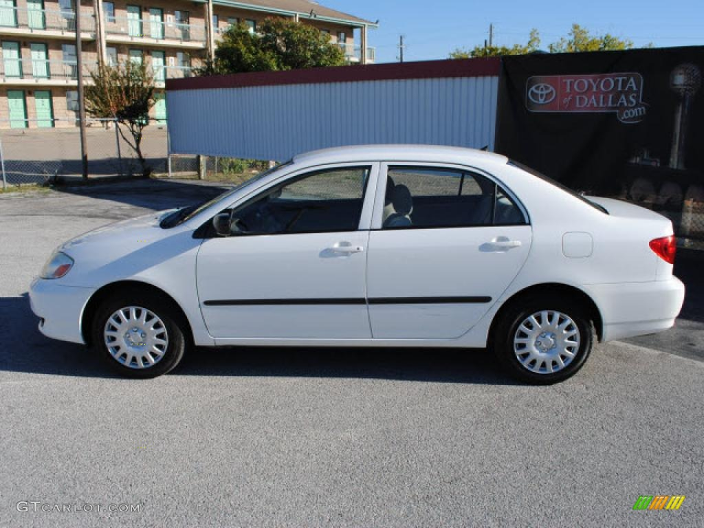 super white 2004 toyota corolla ce exterior photo. Black Bedroom Furniture Sets. Home Design Ideas