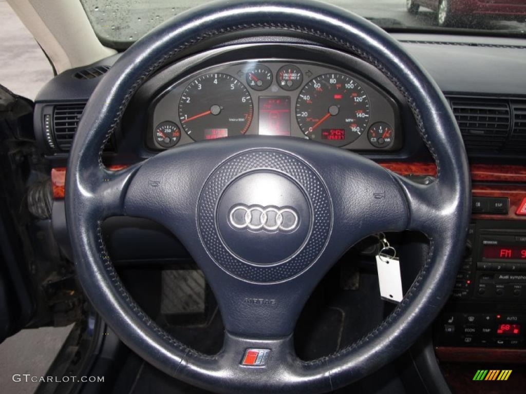 2001 audi a4 2 8 quattro sedan ecru royal blue steering. Black Bedroom Furniture Sets. Home Design Ideas