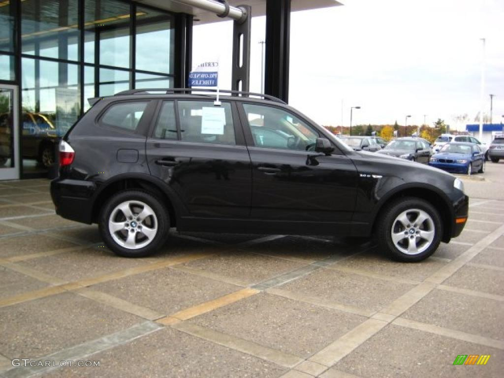 black sapphire metallic 2008 bmw x3 exterior photo. Black Bedroom Furniture Sets. Home Design Ideas