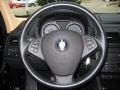 2008 BMW X3 Sand Beige/Black Nevada Leather Interior Steering Wheel Photo