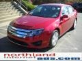 2011 Red Candy Metallic Ford Fusion SE  photo #2