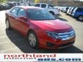 2011 Red Candy Metallic Ford Fusion SE  photo #4