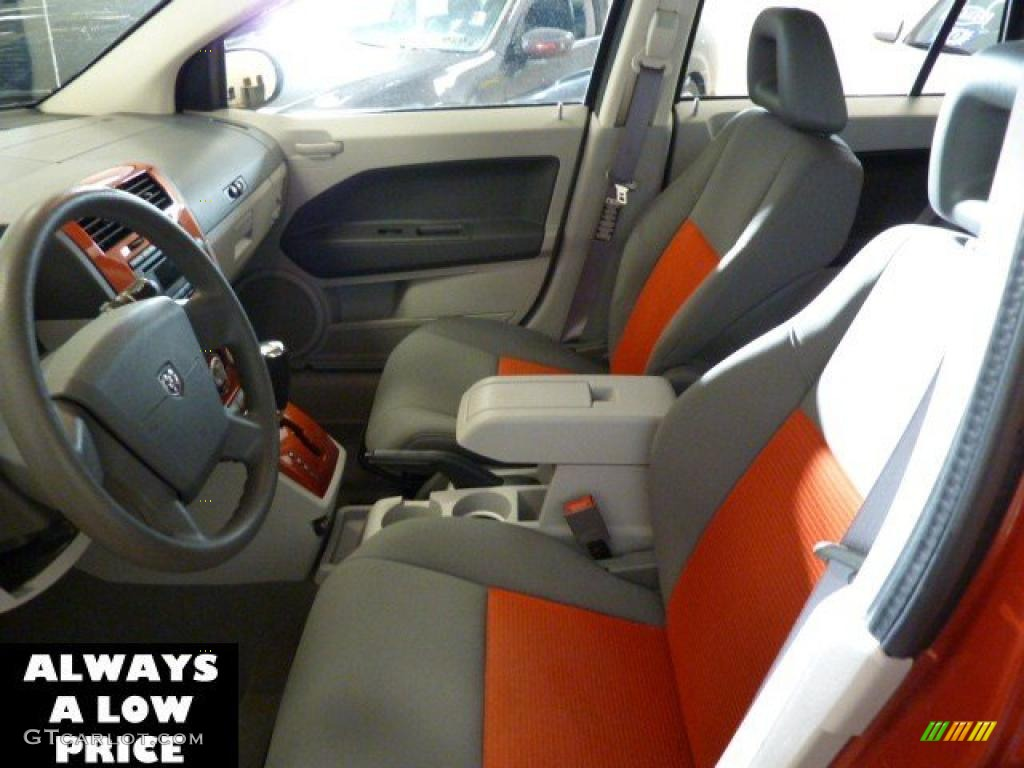 Pastel Slate Gray Orange Interior 2007 Dodge Caliber Sxt Photo 39063355