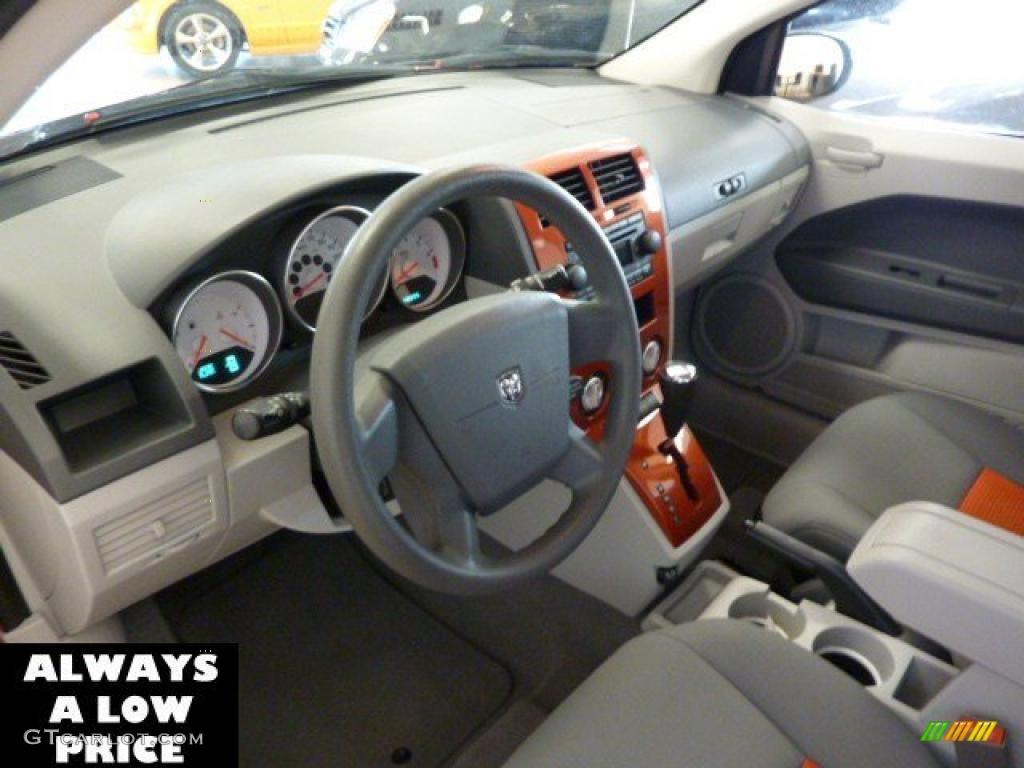 Pastel Slate Gray Orange Interior 2007 Dodge Caliber Sxt Photo 39063371