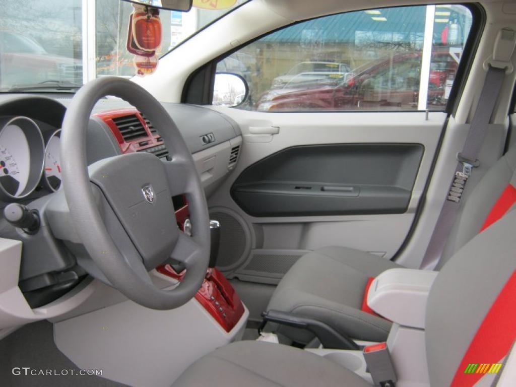 Pastel Slate Gray Red Interior 2007 Dodge Caliber Sxt Photo 39067019