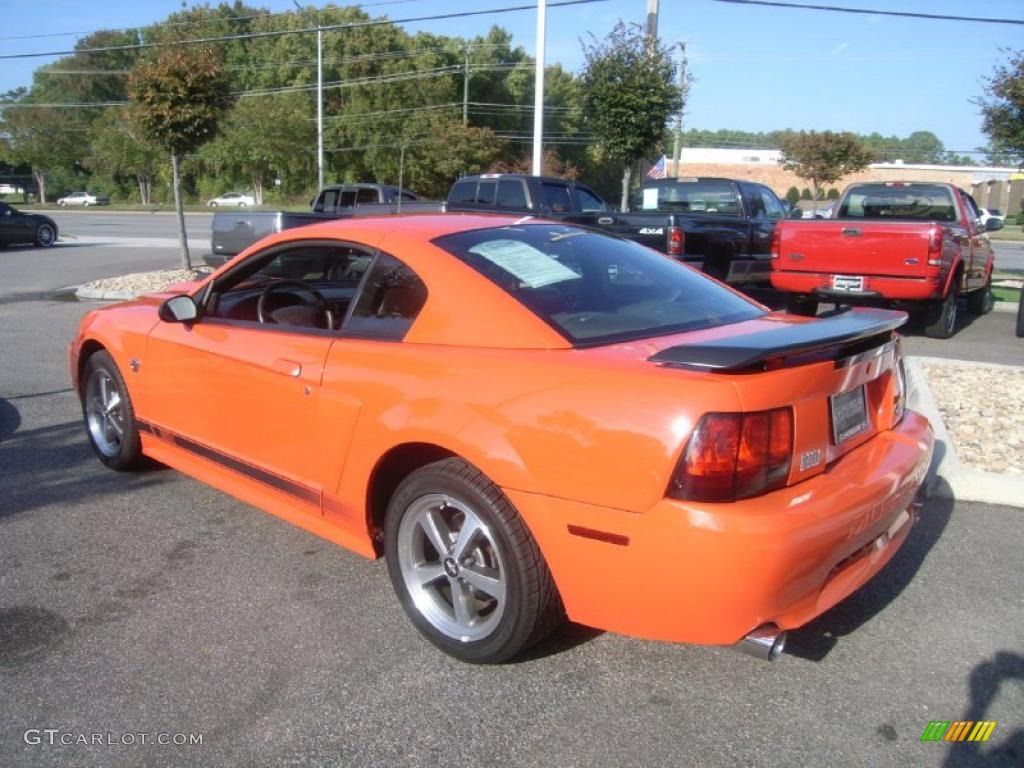 competition orange 2004 ford mustang mach 1 coupe exterior photo. Black Bedroom Furniture Sets. Home Design Ideas