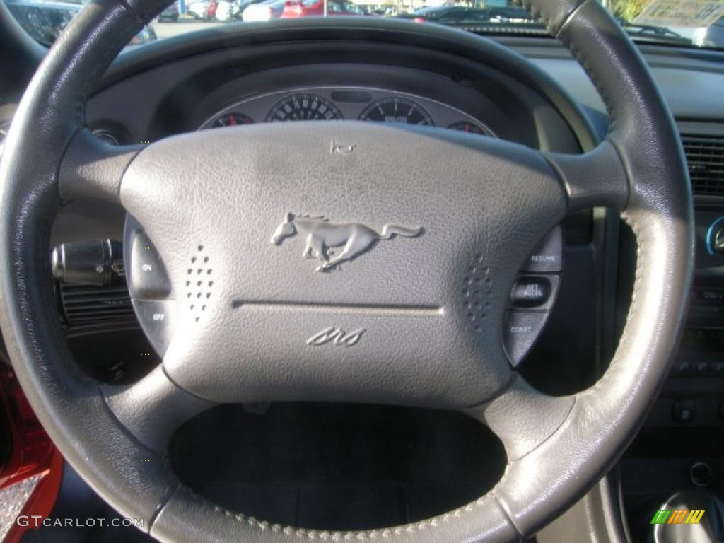 2004 Ford Mustang Mach 1 Coupe Dark Charcoal Steering