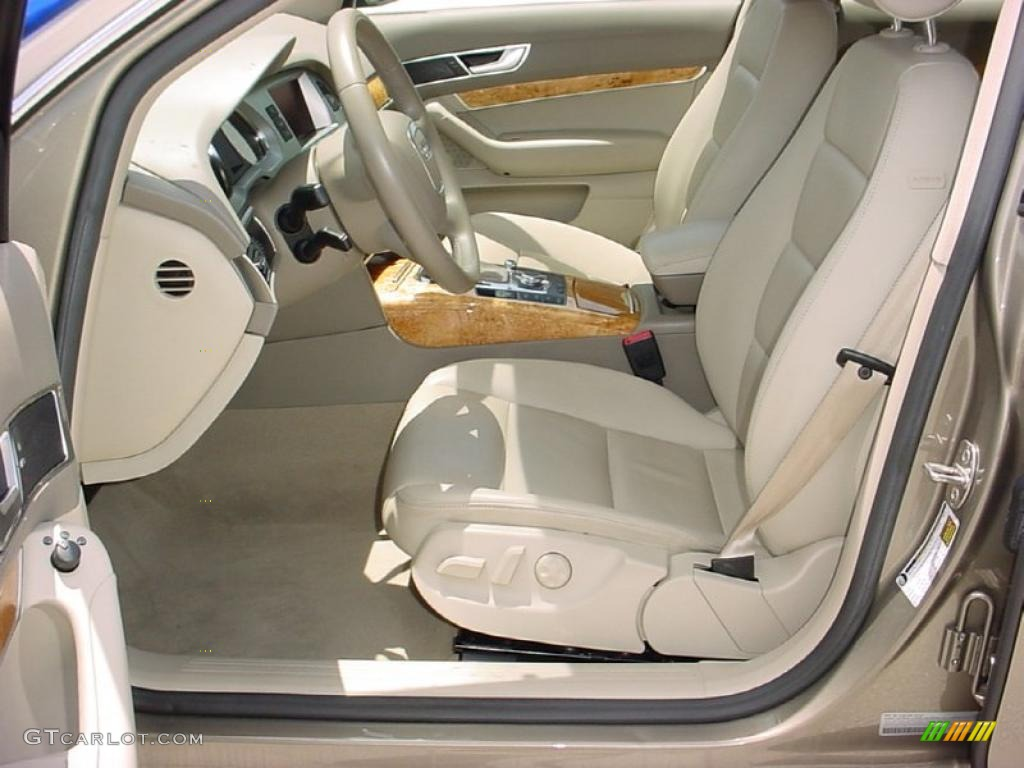 Cardamom beige interior 2008 audi a6 3 2 sedan photo 39086765 gtcarlot com