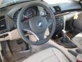 2010 BMW 1 Series Taupe Interior Prime Interior Photo