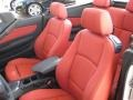 2010 BMW 1 Series Coral Red Boston Leather Interior Interior Photo