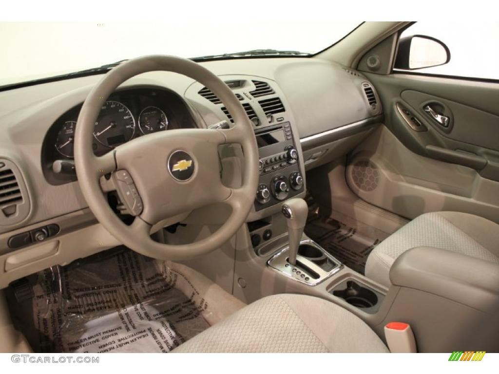 Titanium Gray Interior 2007 Chevrolet Malibu LS Sedan Photo #39093898