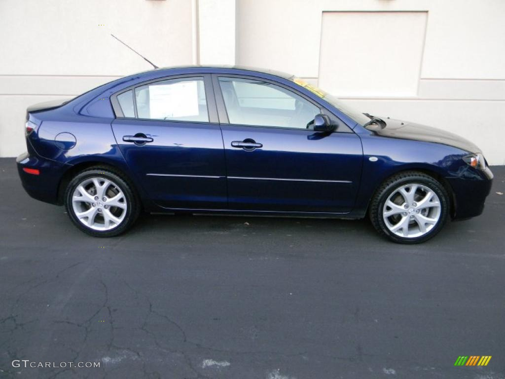 2009 stormy blue mica mazda mazda3 i touring sedan 39059412 photo 2 car color. Black Bedroom Furniture Sets. Home Design Ideas