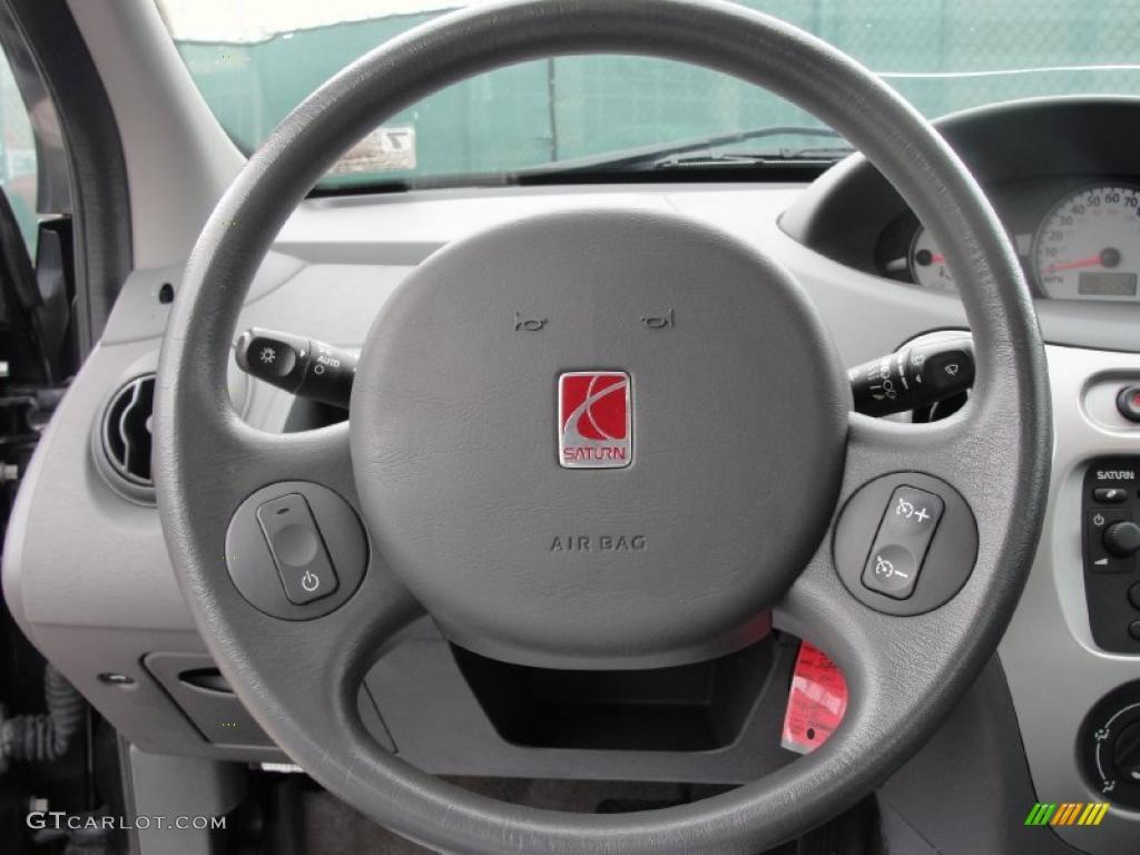 2004 Saturn Ion 3 Sedan Grey Steering Wheel Photo