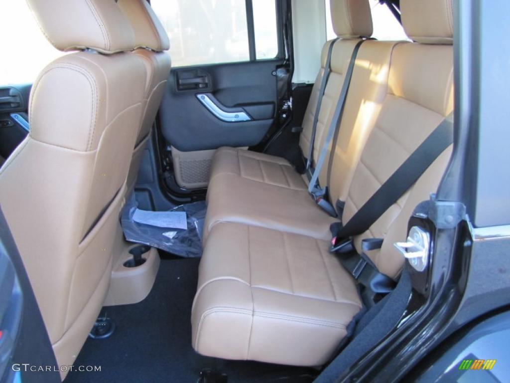 Black Dark Saddle Interior 2011 Jeep Wrangler Unlimited Sahara 4x4 Photo 39113980