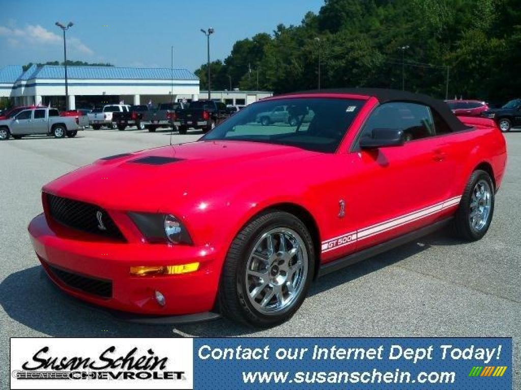 2007 Mustang Shelby GT500 Convertible - Torch Red / Black/Red photo #1