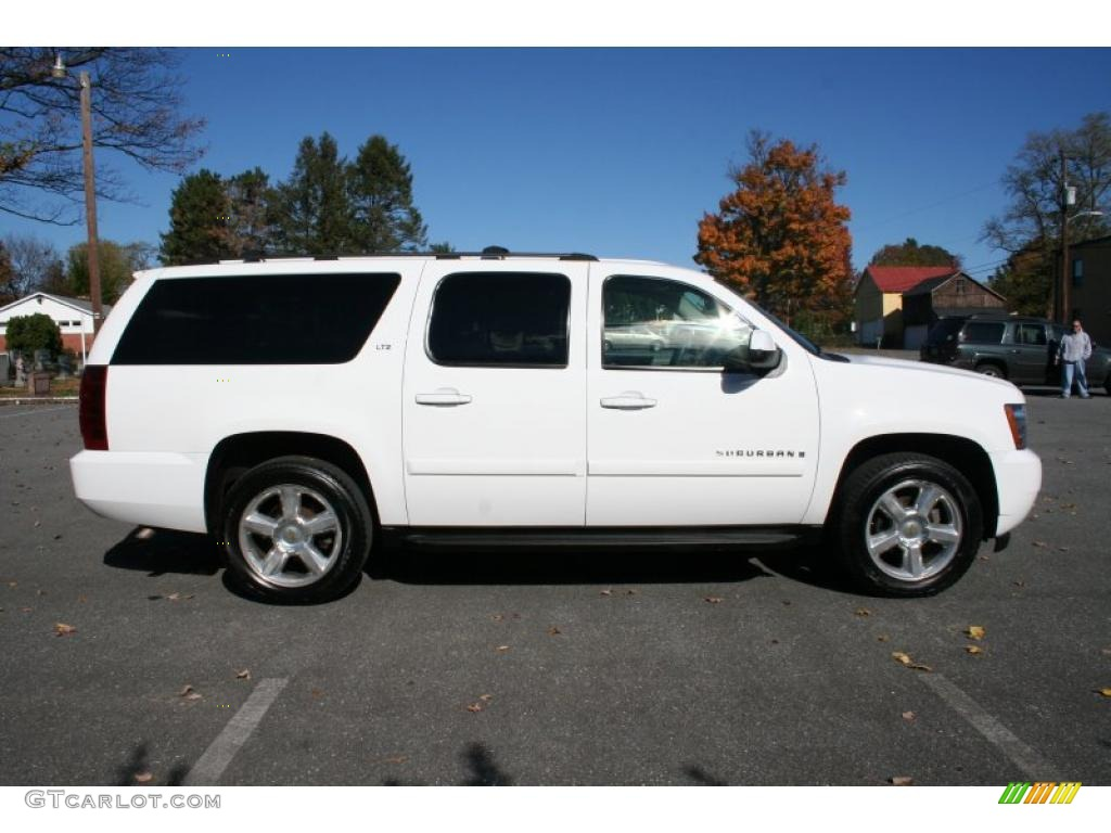 summit white 2007 chevrolet suburban 1500 ltz 4x4 exterior. Black Bedroom Furniture Sets. Home Design Ideas
