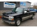 2002 Onyx Black Chevrolet Silverado 1500 LS Regular Cab  photo #1