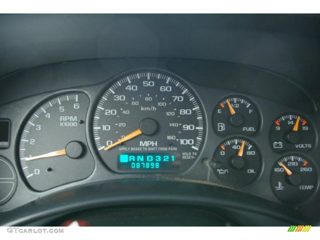 2002 Chevrolet Silverado 1500 LS Regular Cab Gauges Photo #39130835