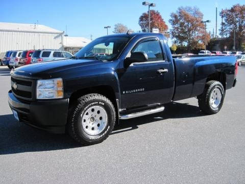 2007 chevrolet silverado 1500 work truck regular cab 4x4. Black Bedroom Furniture Sets. Home Design Ideas