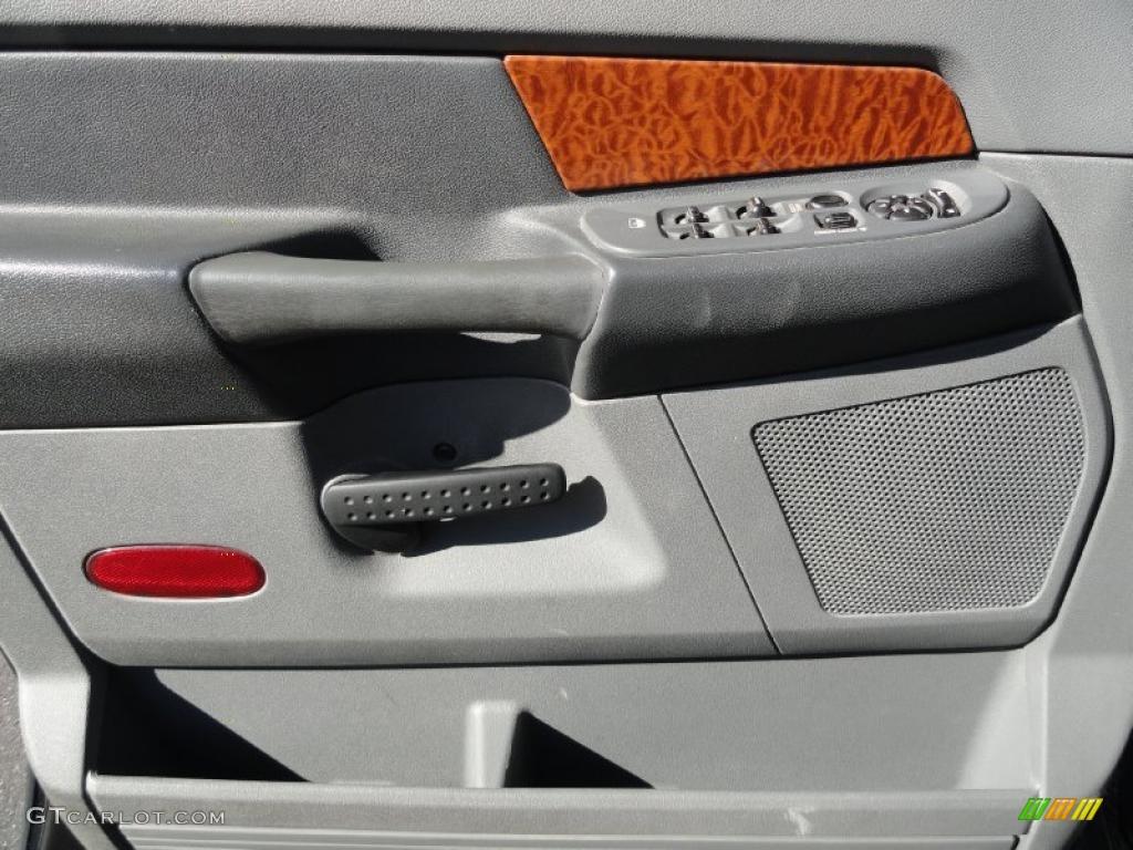 2007 Dodge Ram 3500 Laramie Quad Cab 4x4 Dually Medium Slate Gray Door Panel Photo #39133795