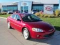 2003 Inferno Red Tinted Pearl Chrysler Sebring LXi Sedan #39123462