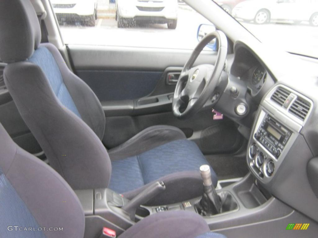 Black Interior 2002 Subaru Impreza Wrx Sedan Photo