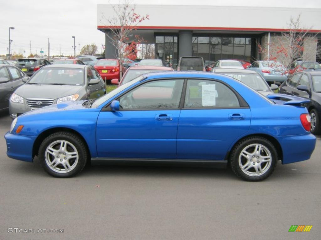 WR Blue Pearl 2002 Subaru Impreza WRX Sedan Exterior Photo #39145442