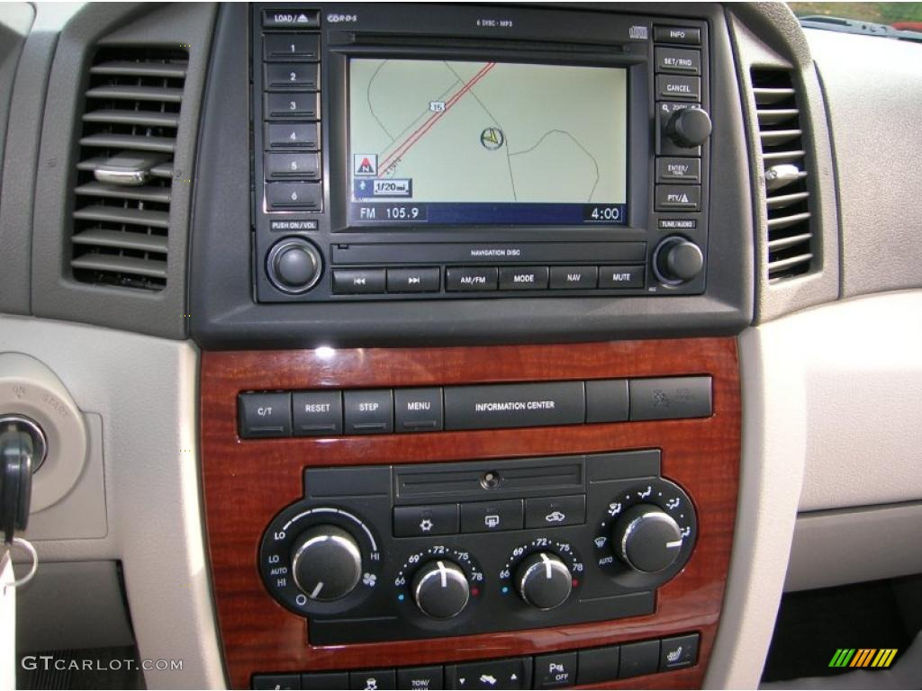 2005 Jeep Grand Cherokee Limited Navigation System