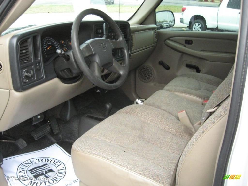 Tan Interior 2005 Chevrolet Silverado 1500 Regular Cab 4x4