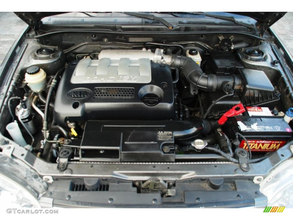 2002 Kia Spectra Sedan Engine Photos