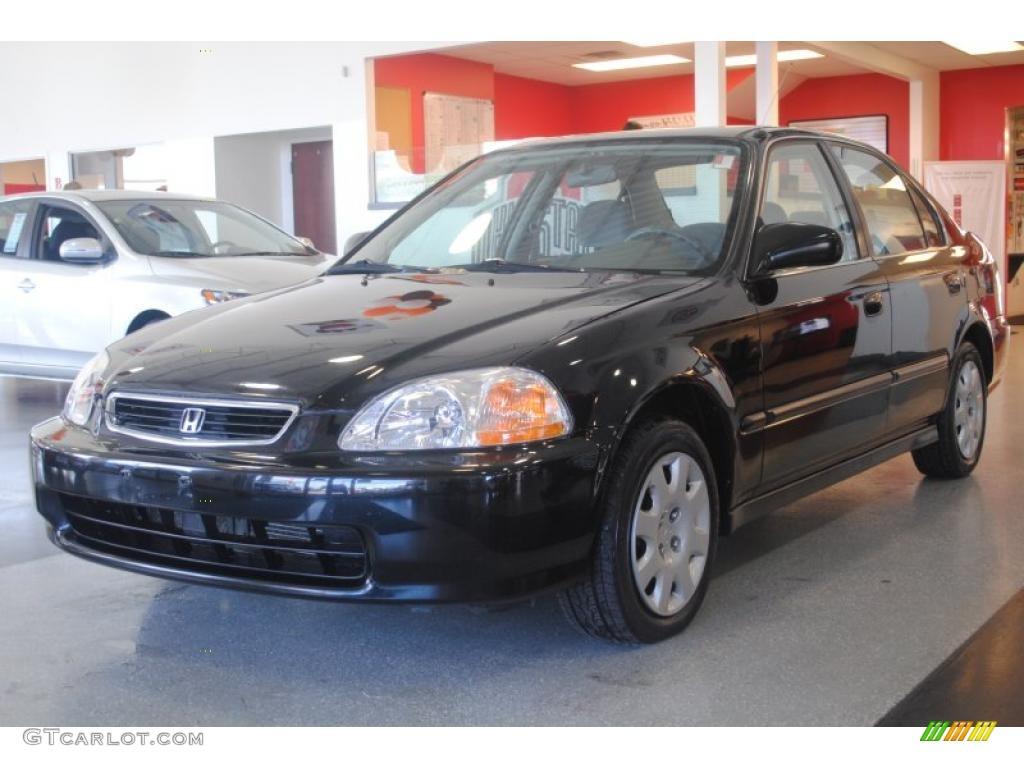 Flamenco Black Pearl 1998 Honda Civic Lx Sedan Exterior