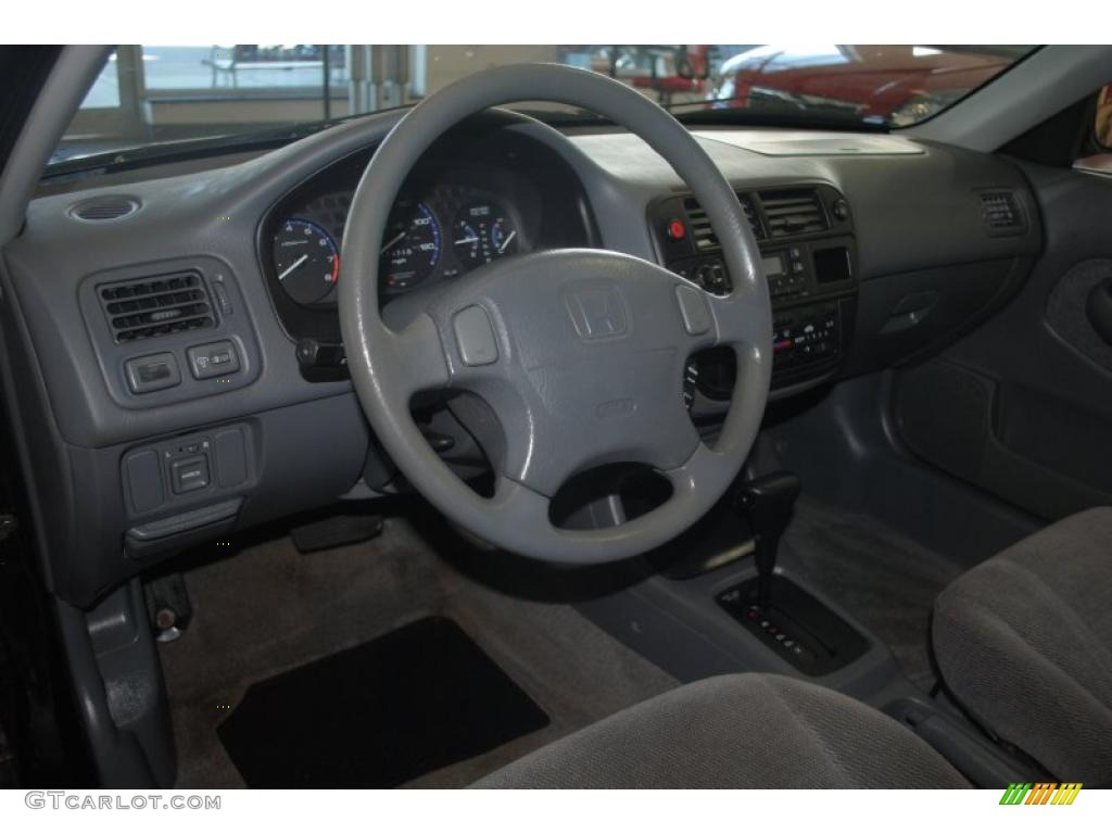 Gray Interior 1998 Honda Civic Lx Sedan Photo 39201711