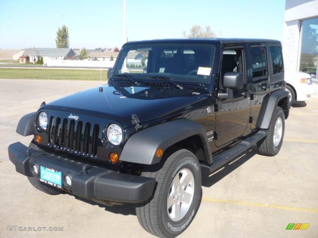 black 2011 jeep wrangler unlimited sport 4x4 exterior photo 39210866. Black Bedroom Furniture Sets. Home Design Ideas