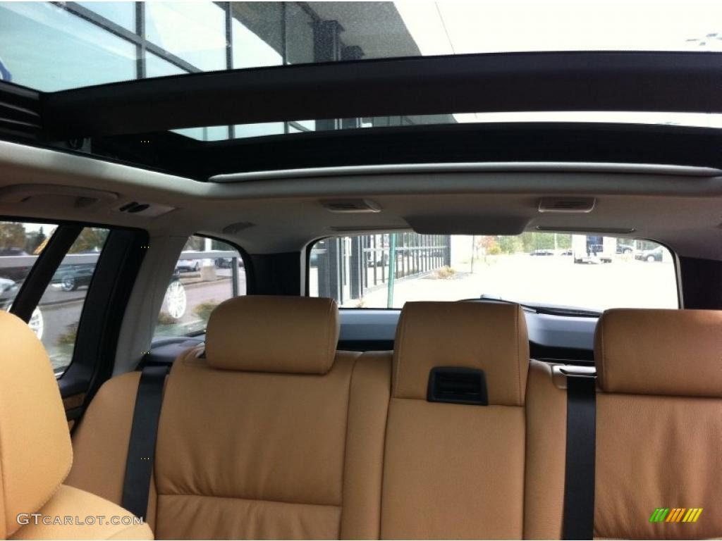 Natural brown dakota leather interior 2008 bmw 5 series 535xi sports wagon photo 39212606