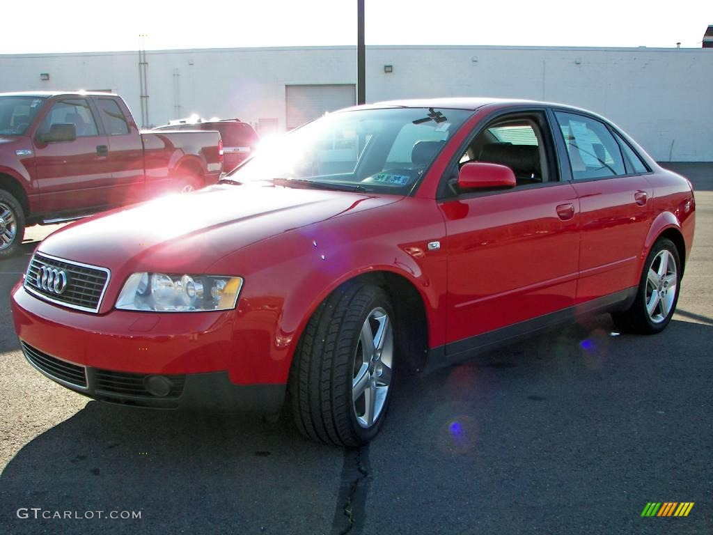 2004 Brilliant Red Audi A4 1 8t Quattro Sedan 3911490
