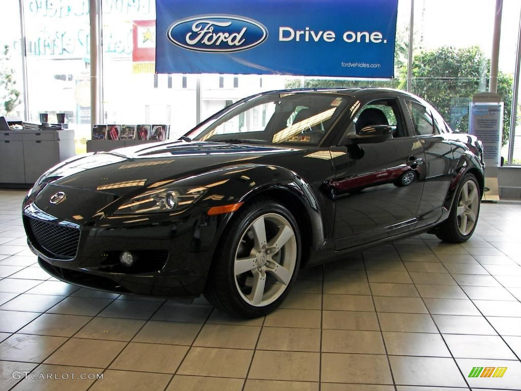 2007 brilliant black mazda rx 8 grand touring 3911957 car color galleries. Black Bedroom Furniture Sets. Home Design Ideas