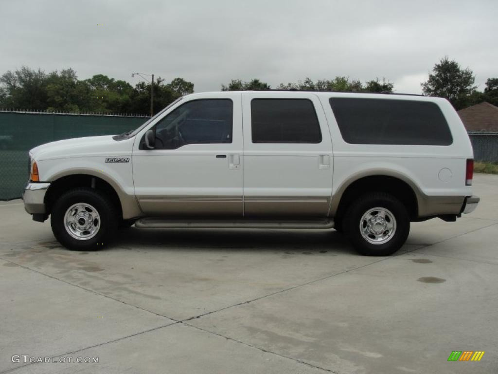 Oxford White 2000 Ford Excursion Limited 4x4 Exterior