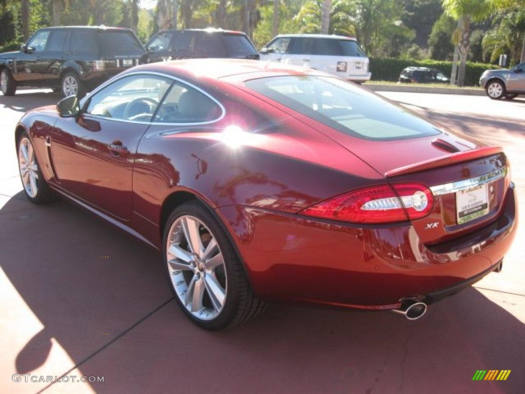 Jaguar xk coupe red - photo#21