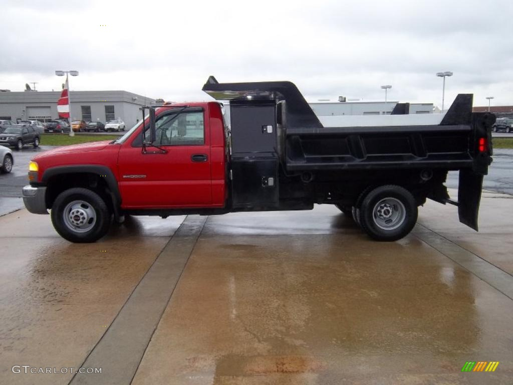 Fire red gmc sierra 3500
