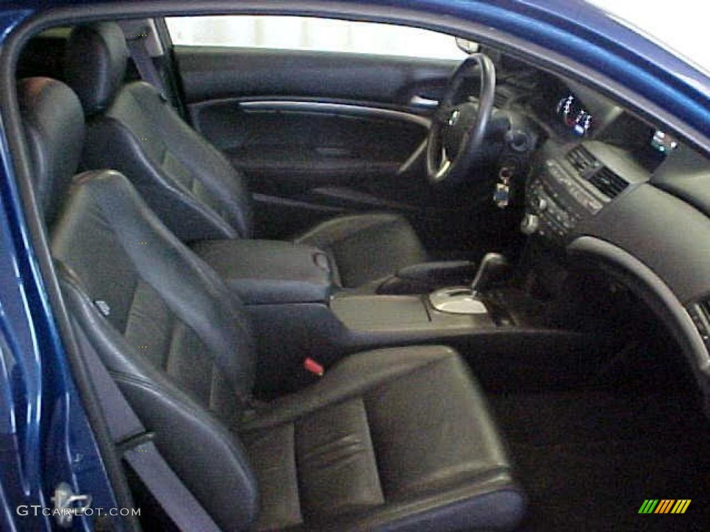 Black Interior 2010 Honda Accord Ex L V6 Coupe Photo