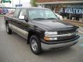 2002 Onyx Black Chevrolet Silverado 1500 LS Extended Cab 4x4  photo #1