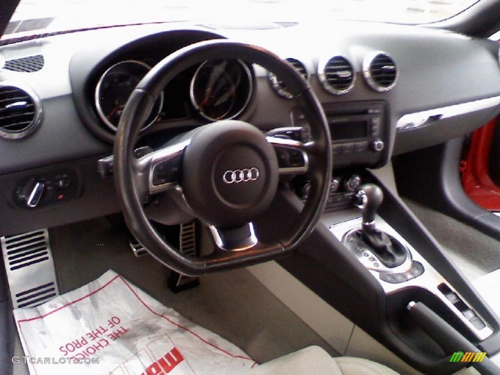 limestone grey interior 2008 audi tt 2.0t roadster photo #39270483
