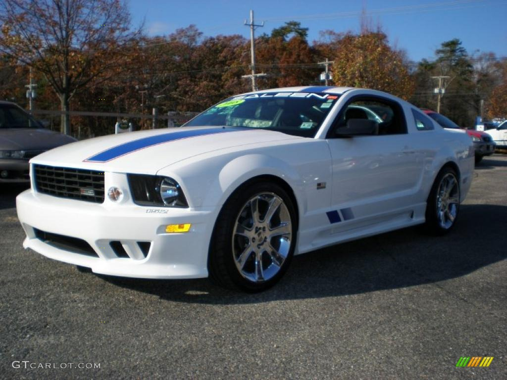 2008 performance white ford mustang saleen s281 af american flag patriot supercharged coupe. Black Bedroom Furniture Sets. Home Design Ideas