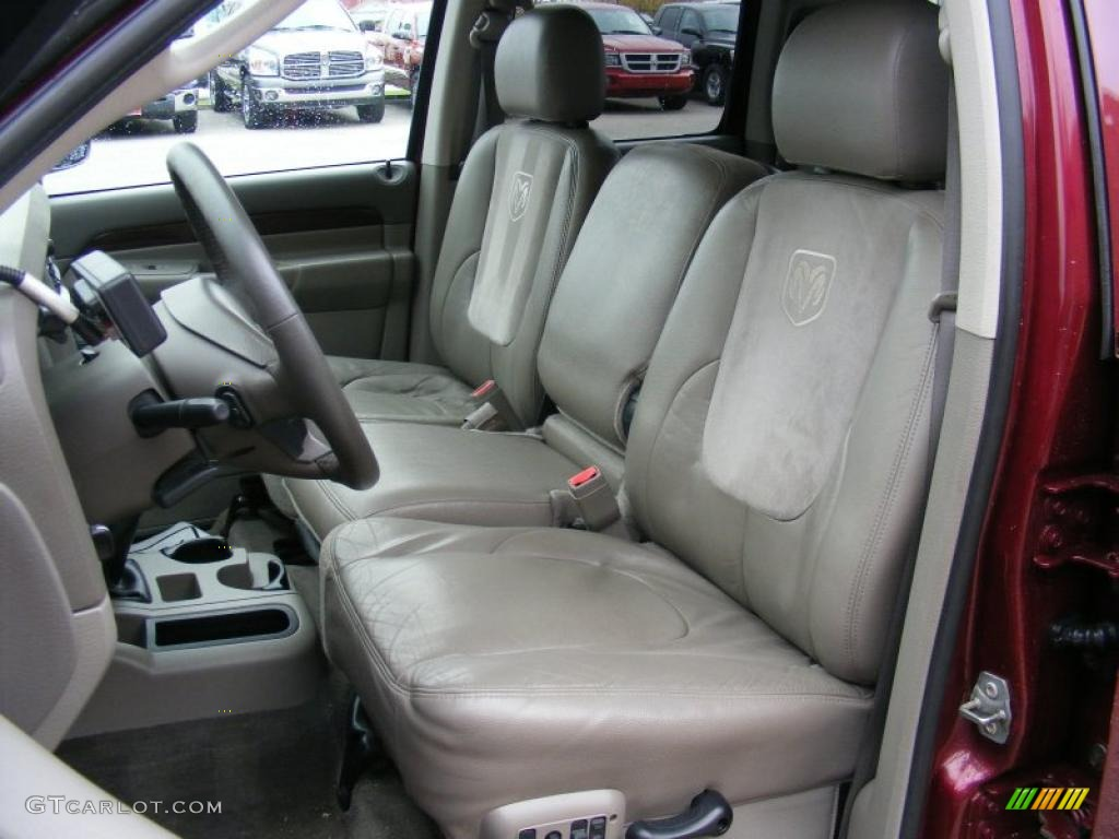 Taupe Interior 2003 Dodge Ram 2500 Laramie Quad Cab 4x4 Photo 39277379