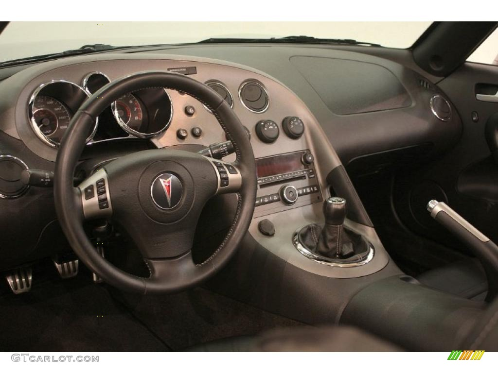 Ebony Interior 2008 Pontiac Solstice Gxp Roadster Photo 39284919