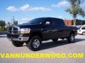 2006 Black Dodge Ram 1500 SLT Mega Cab 4x4  photo #1